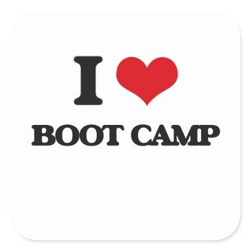 I Love Boot Camp Square Sticker