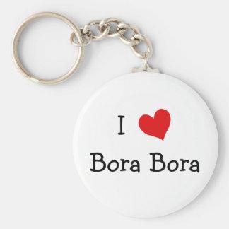 I Love Bora Bora Basic Round Button Keychain