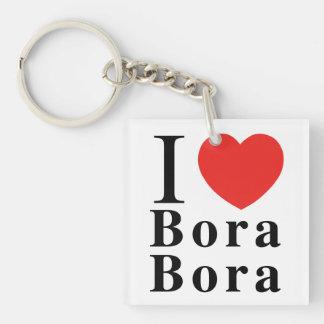I [LOVE] Bora Borak/Mt Otemanu Keychain