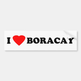 I Love Boracay Bumper Sticker