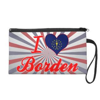 I Love Borden, Indiana Wristlet Clutches