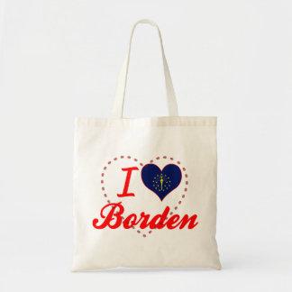 I Love Borden, Indiana Tote Bags