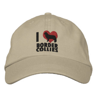 I Love Border Collies Embroidered Hat