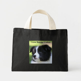 I Love Border Collies Mini Tote Bag