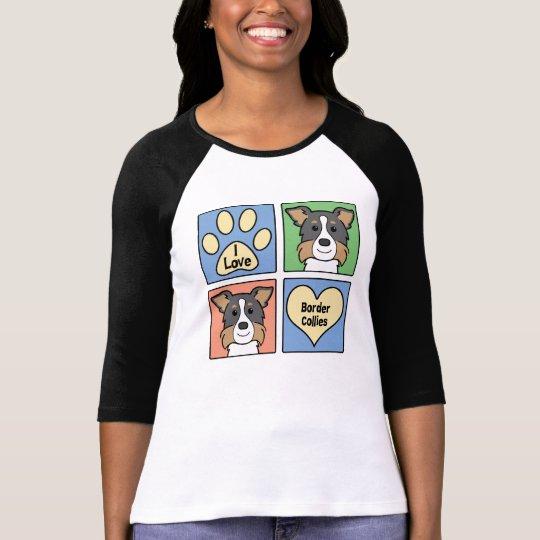I Love Border Collies T-Shirt