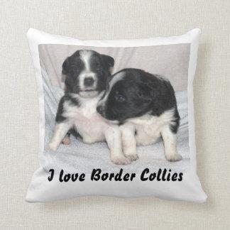 I Love Border Collies Throw Pillow