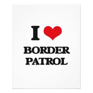 "I love Border Patrol 4.5"" X 5.6"" Flyer"