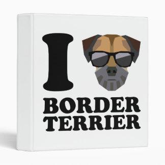 I Love Border Terrier -1- Binders