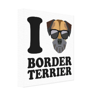 I Love Border Terrier -1- Canvas Print