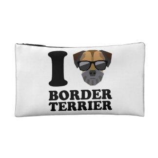 I Love Border Terrier -1- Makeup Bag