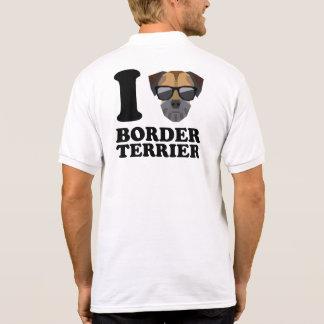 I Love Border Terrier -1- Polo Shirt