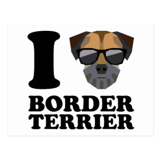 I Love Border Terrier -1- Postcard