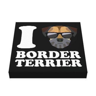 I Love Border Terrier -2- Canvas Print