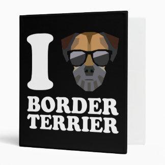 I Love Border Terrier -2- Vinyl Binder