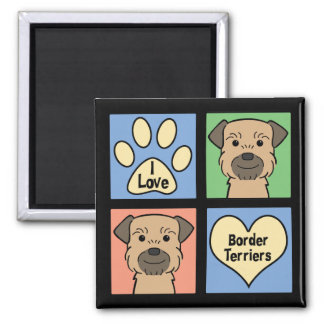I Love Border Terriers Magnet
