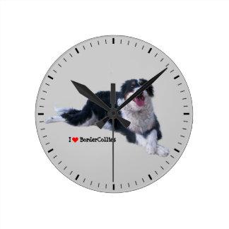 I love BorderCollies Round Clock
