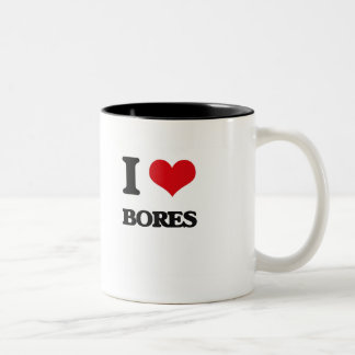I Love Bores Two-Tone Coffee Mug