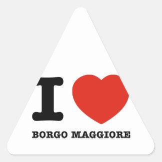 I Love Borgo Maggiore Stickers