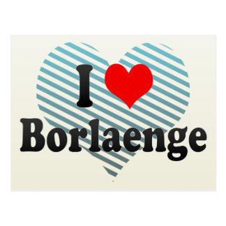 I Love Borlaenge, Sweden Postcard