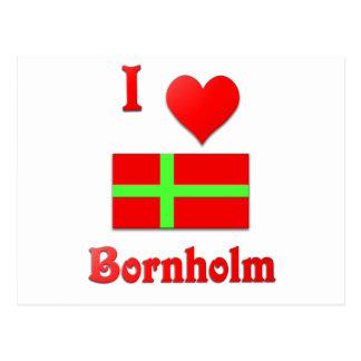 I Love Bornholm Postcard