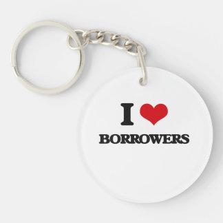 I Love Borrowers Single-Sided Round Acrylic Keychain