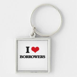 I Love Borrowers Keychains