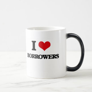 I Love Borrowers 11 Oz Magic Heat Color-Changing Coffee Mug