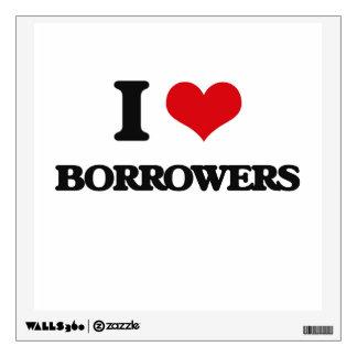 I Love Borrowers Wall Sticker