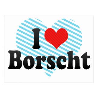 I Love Borscht Postcard