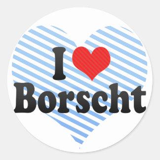 I Love Borscht Sticker