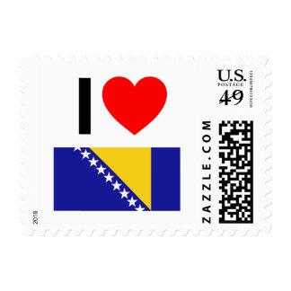 i love bosnia and herzegovina postage
