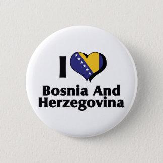 I Love Bosnia & Herzegovina Flag Button