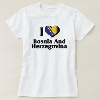 I Love Bosnia & Herzegovina Flag T-Shirt