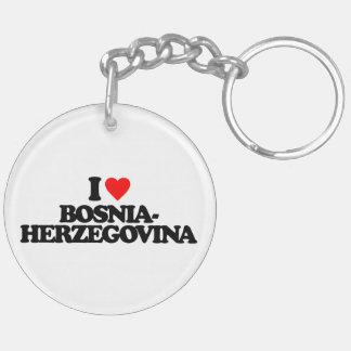I LOVE BOSNIA-HERZEGOVINA ACRYLIC KEY CHAIN