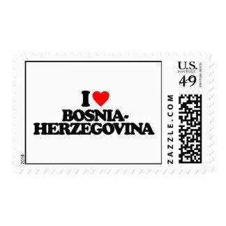 I LOVE BOSNIA-HERZEGOVINA POSTAGE