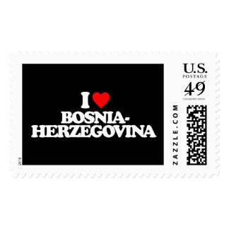 I LOVE BOSNIA-HERZEGOVINA STAMP