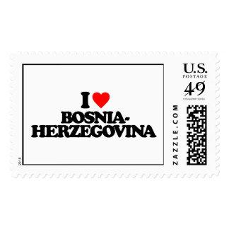 I LOVE BOSNIA-HERZEGOVINA POSTAGE STAMPS