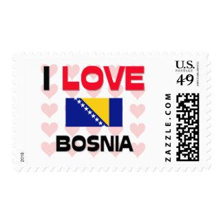 I Love Bosnia Postage Stamps
