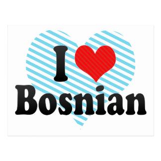 I Love Bosnian Postcard