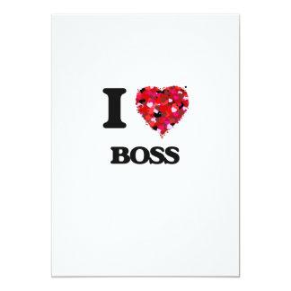 I love Boss 5x7 Paper Invitation Card