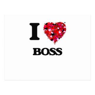 I love Boss Postcard
