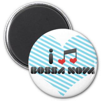 I Love Bossa Nova 2 Inch Round Magnet