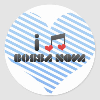 I Love Bossa Nova Classic Round Sticker
