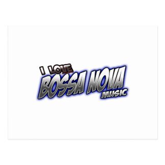 I Love BOSSA NOVA music Postcard