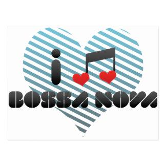 I Love Bossa Nova Postcard