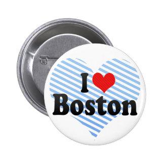 I Love Boston 2 Inch Round Button