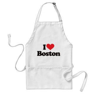 I Love Boston Adult Apron