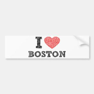 I Love Boston Bumper Stickers