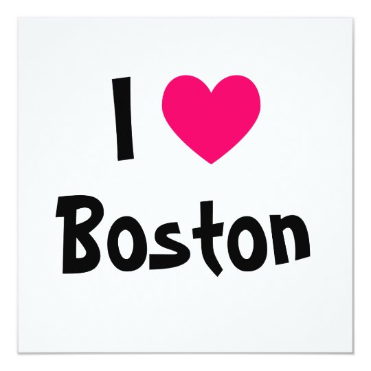 I Love Boston Card