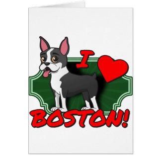 I Love Boston Card